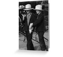 Two Amish boys Greeting Card