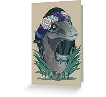 Clever Girl - Blue Greeting Card