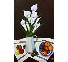 Still life with Callas Photographic Print