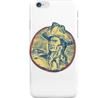 American Patriot Side Circle Etching iPhone Case/Skin