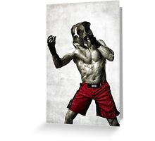 The boxer fighter Greeting Card