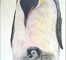 Penguin and baby by bind