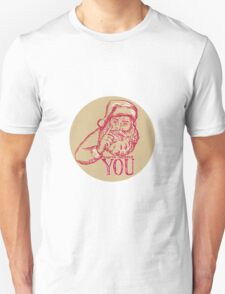 Santa Claus Needs You Pointing Etching T-Shirt