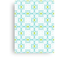 Turquoise Blue & White Geometric Abstract Design Canvas Print
