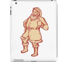 Santa Claus Father Christmas Thumbs Up Etching iPad Case/Skin