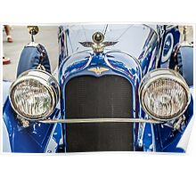 Duesenberg Straight 8 Grill and Headlights Poster