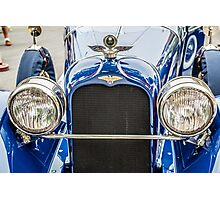 Duesenberg Straight 8 Grill and Headlights Photographic Print