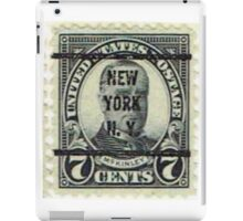 Antique Black NYC Stamp iPad Case/Skin
