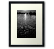 Town Lake Framed Print
