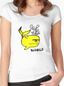 Whale and Sabet collaboration t-shirt Women's Fitted Scoop T-Shirt