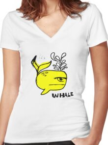 Whale and Sabet collaboration t-shirt Women's Fitted V-Neck T-Shirt