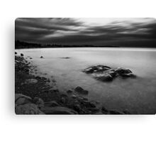 Monochrome Waters Canvas Print