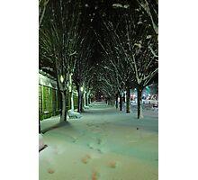 Snow Tunnel  Photographic Print