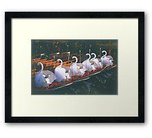 Swan Boats at Sunrise Framed Print