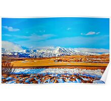 Typical Icelandic landscape. Poster