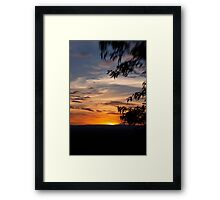 Sunset at The Bluff Framed Print