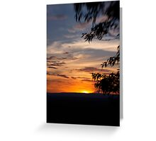 Sunset at The Bluff Greeting Card