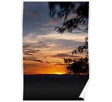 Sunset at The Bluff Poster