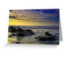 Cornish Blue Sunset Greeting Card