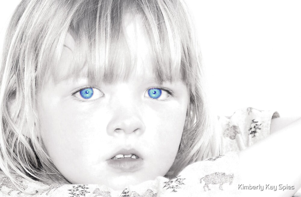 Blue eyed girl by Kimberly Kay Spies