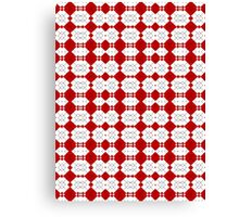 Red & White Geometric Abstract Design Pattern Canvas Print
