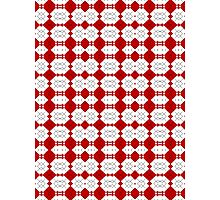 Red & White Geometric Abstract Design Pattern Photographic Print