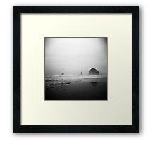 cannon beach . oregon Framed Print