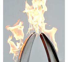 Pass the flame - unite the world Photographic Print