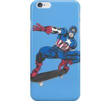 Cap on a Skateboard iPhone Case/Skin
