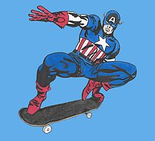 Cap on a Skateboard by Blsmith13