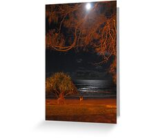 moonlight by the sea Greeting Card