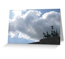 Charging into the Clouds Greeting Card