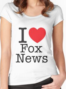 I LOVE Fox News Women's Fitted Scoop T-Shirt