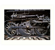 Trail Wheels In Black - Perris, CA Art Print