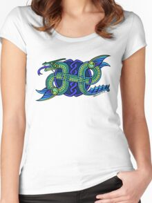 Knotwork Ogopogo Women's Fitted Scoop T-Shirt