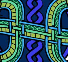Knotwork Ogopogo Sticker