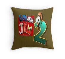 Earthworm Jim - EWJ2 Logo Throw Pillow
