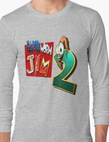 Earthworm Jim - EWJ2 Logo Long Sleeve T-Shirt