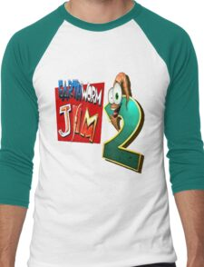 Earthworm Jim - EWJ2 Logo Men's Baseball ¾ T-Shirt