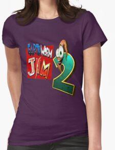 Earthworm Jim - EWJ2 Logo Womens Fitted T-Shirt