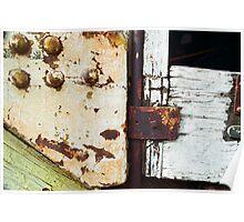 Trolley Door - Abstract Detail Poster