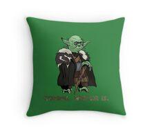 Yoda Stark Throw Pillow