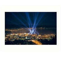 Articulated Intersect Over Hobart Art Print