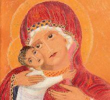 Byzantine Virgin and Child by Hilary Robinson