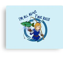 All About That Bass - Link Blue Canvas Print