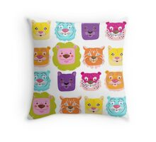 Glowing cats! Throw Pillow