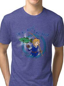 All About That Bass - Link Blue Tri-blend T-Shirt
