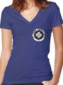 TARDIS St. John's Ambulance Logo (available as leggings!) Women's Fitted V-Neck T-Shirt