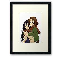Yui and Azusa Framed Print