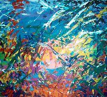 """Seagulls"" - Acrylic on Canvas by JETIII"